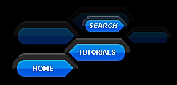 Unique Blue button Navigation