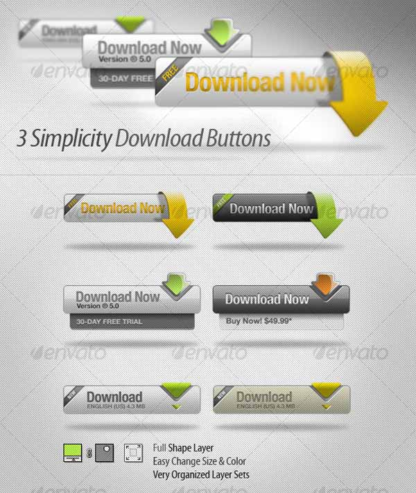 3 Simple Download Buttons