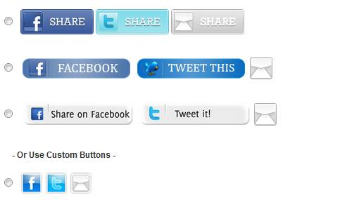 3. Trackable Social Share Icons