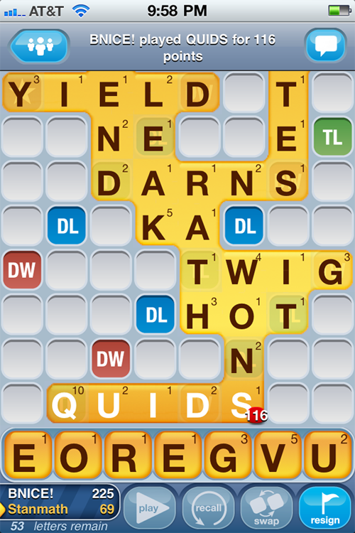 4. Words With Friends