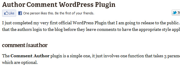 Author Comment WordPress Plugin