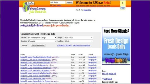 Freelance Job Search