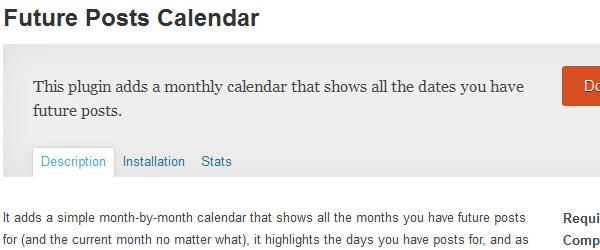 Future Posts Calendar
