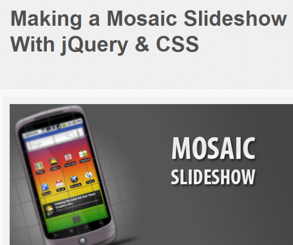 Make a Mosiac Slideshow with jQuery and CSS