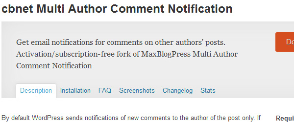 Multi Author Comment Notification