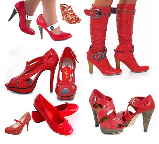 Red shoes for women-11