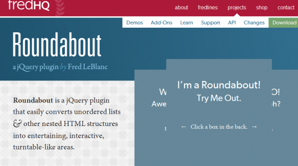 Roundabout For jQuery