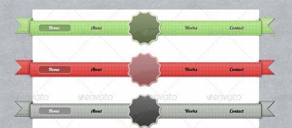 Textures Navigation Ribbons