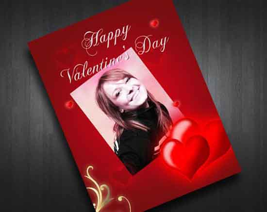Valentines Card PSD Template