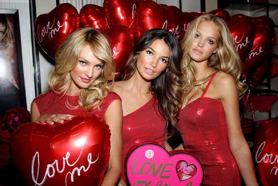 Victoria's Secret Bombshells Spread the Love for Valentine's Day in Herald Square