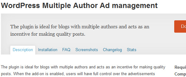 WordPress Multiple Author Ad management