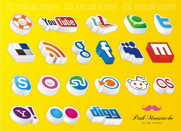 20-amazing-3d-social-icons