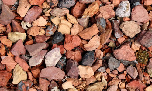 Red and Black Rocks Gravel Texture