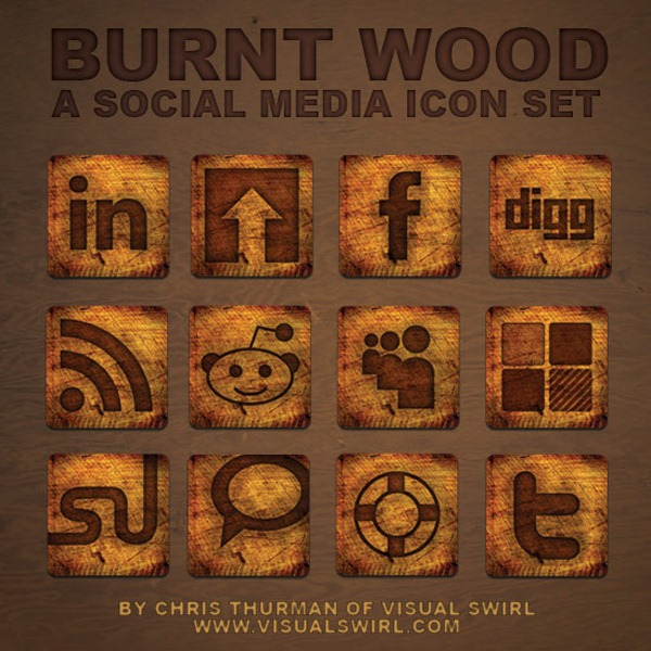 Burnt-Wood--A-Social-Media-Icon-Set