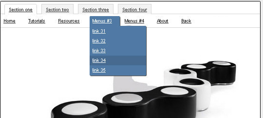 CSS3-jQuery Crossbrowser Drop-down menu with Tabs