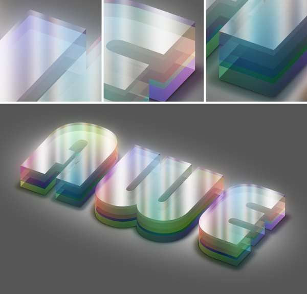 Colorful Plexi Text Effect using Photoshop