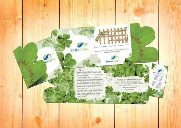 Convite Gusso Flores Brochure