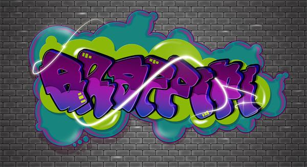 Create a Cartoon-Style Graffiti Text Effect in Photoshop