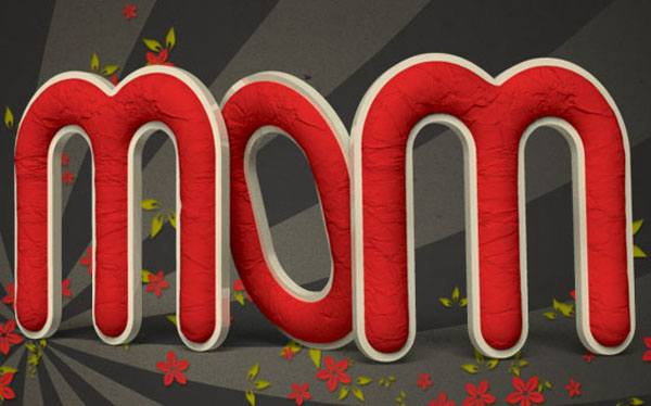Create a Crumpled Paper Textured 3D Text Effect In Photoshop