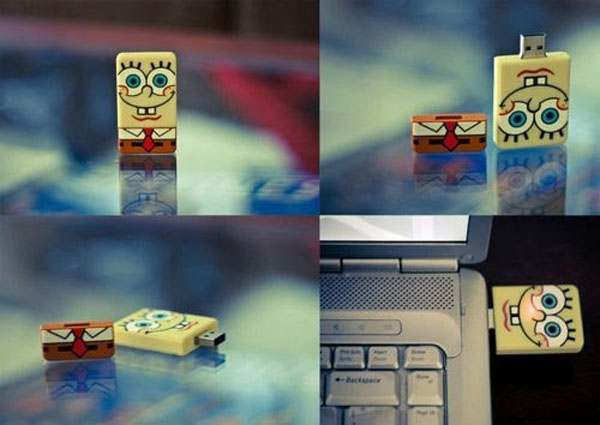Funny USB Spongebob Squarepants Flash Drive1 40 حافظه فلش عجیب و غریب!