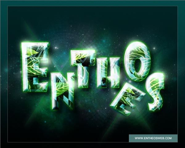 Create Glossy Text Effect in Photoshop