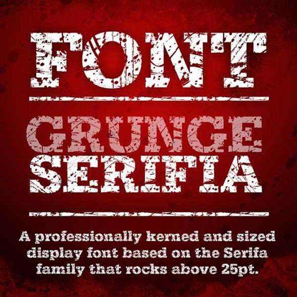 Grunge Serifia Font OTF