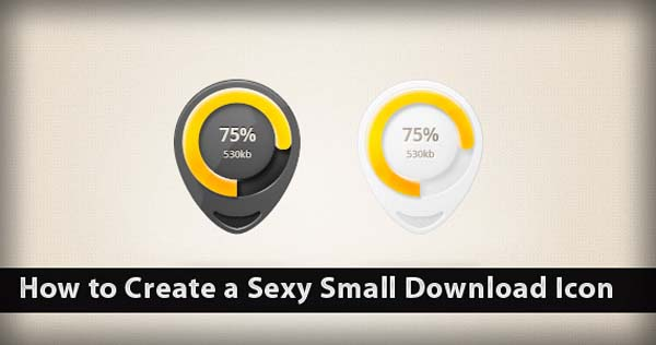 How to Create a Sexy Small Download Icon on Photoshop