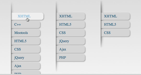How to Create a jQuery style menu with CSS3