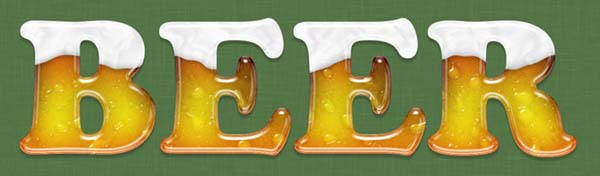 Create an Icy Beer Text Effect Creation