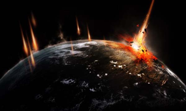 Making a Disaster Impact Scenery to the Earth Using Photoshop