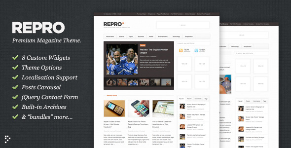 Repro - Premium WordPress News - Magazine Theme