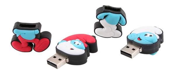 Smurf USB Custom Flash Drive1 40 حافظه فلش عجیب و غریب!