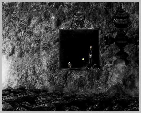 Sci-Fi Space Cave Scene