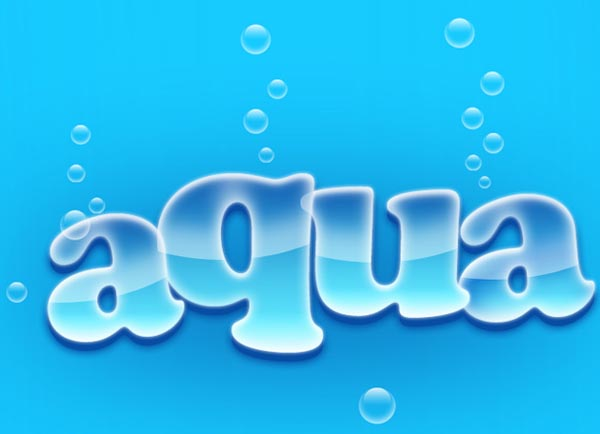 Create Aqua Text Effect