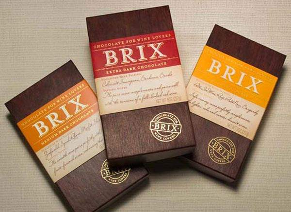 Brix Dark Chocolate Package Design