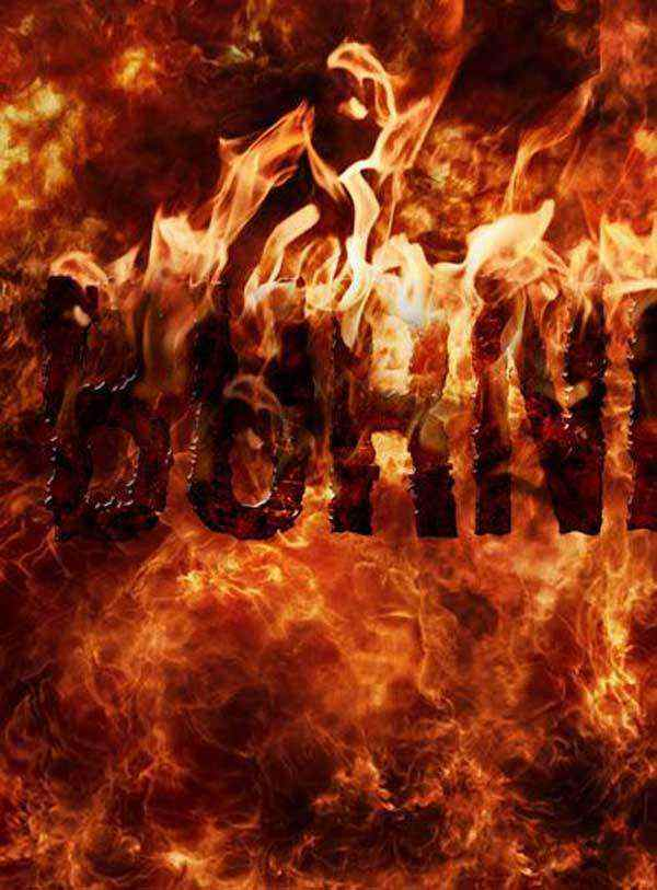 Create a Burning Textural Effect