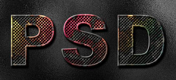 How to Create Eroded Metal Text With Photoshop