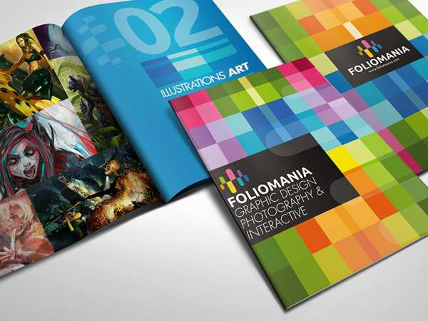 Foliomania Design Portfolio Brochure