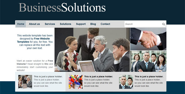 30 free and premium businesscorporate website templates business solutions website template wajeb