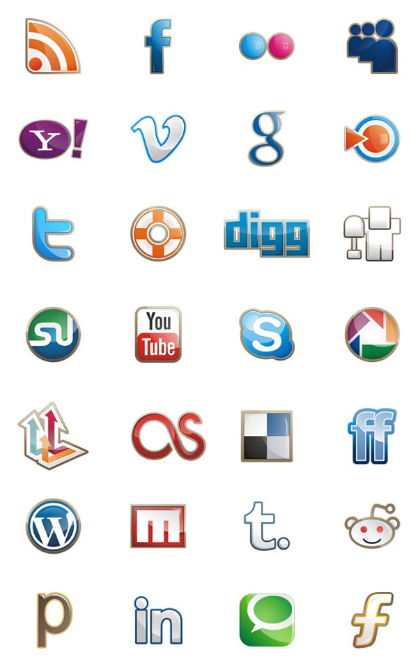 freee-style-social-media-icon-set