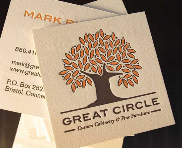 Great Circle Business Card by Elias