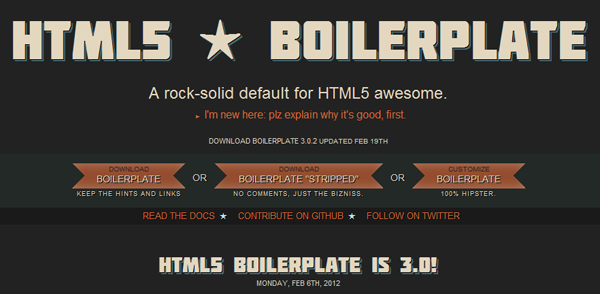 html5 and boilerplate