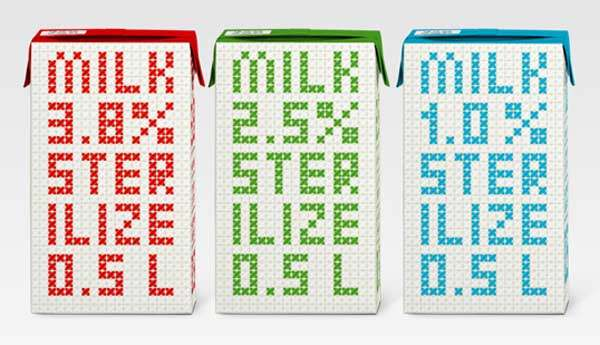 Colorful Milk packs