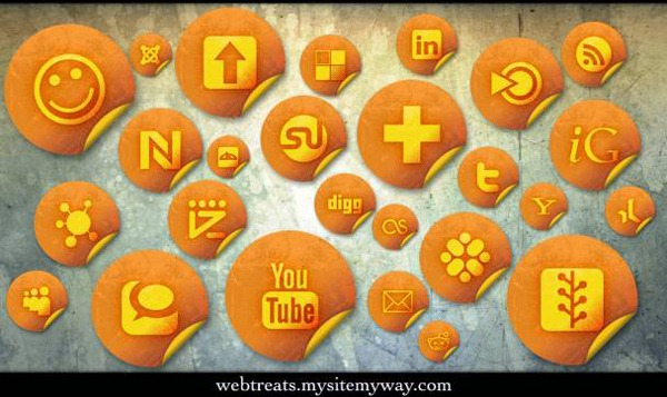 orange-grunge-stickers-social-bookmarking-icons
