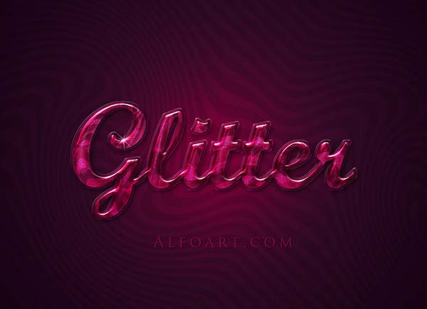 Create Extremely glossy and shiny text effect