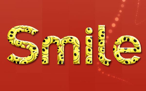 Create Smiley Text Effect