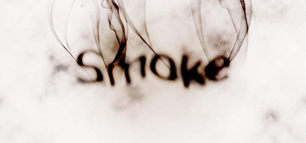 Create Smoke Type in Photoshop