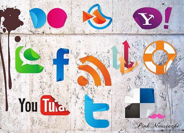 social-icon-sticker-set