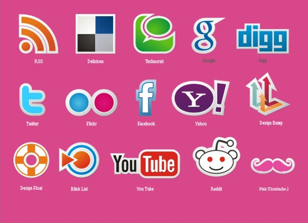 social-icon-vector-set