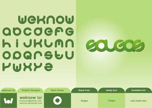 Solgas Font by we Know